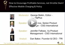 How to Encourage Profitable Services, Not Throttle Them! Effective Mobile Charging & Policy