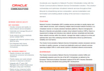 Oracle Communications Network Service Orchestration Solution