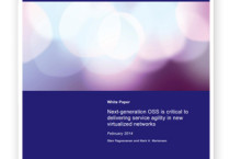 Next-generation OSS is critical to delivering service agility in new virtualized networks