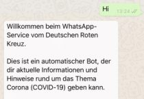 German Red Cross launches WhatsApp chatbot to answer COVID-19 questions