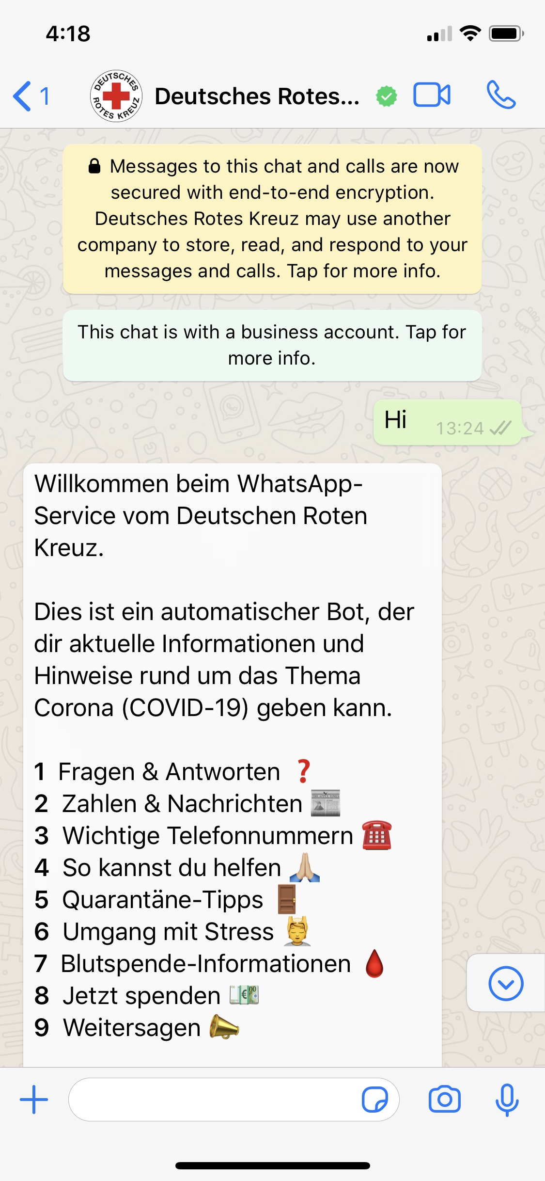 German Red Cross Launches Whatsapp Chatbot To Answer Covid 19 Questions Vanillaplus The Global Voice Of Telecoms It