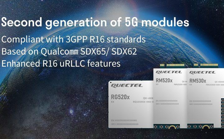 Quectel announces 2nd gen of 5G NR modules compliant with 3GPP R16 standard
